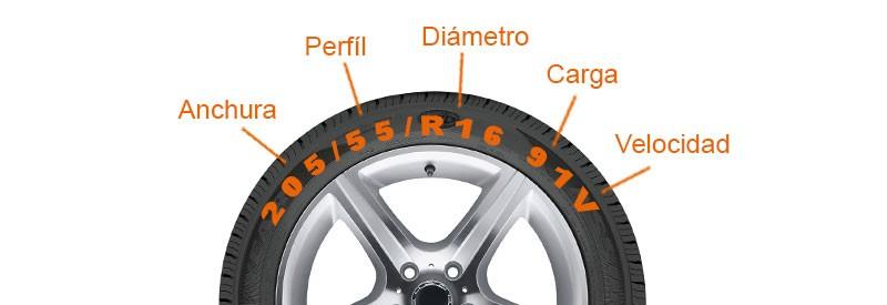 como leer un neumático